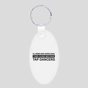 tap created equal designs Aluminum Oval Keychain