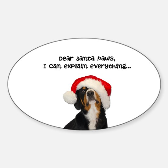 Dear Santa Paws, I can Explain Decal