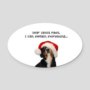 Dear Santa Paws, I can Explain Oval Car Magnet
