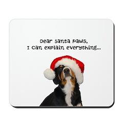 Dear Santa Paws, I can Explain Mousepad