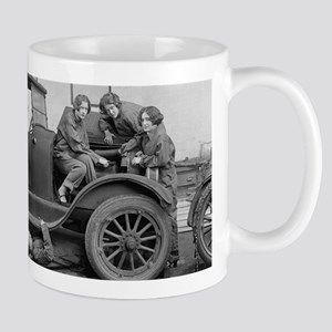 Young Lady Auto Mechanics Mugs
