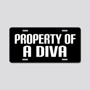 Property Of A Diva Aluminum License Plate