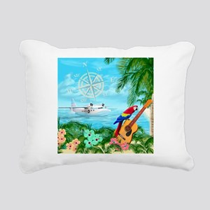Tropical Travels Rectangular Canvas Pillow