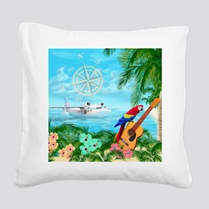 Tropical Travels Square Canvas Pillow
