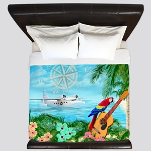 Tropical Travels King Duvet