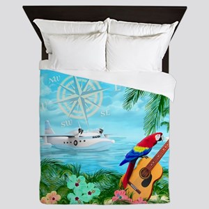 Tropical Travels Queen Duvet