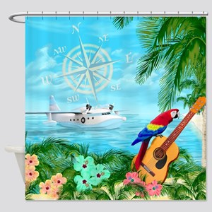 Tropical Travels Shower Curtain