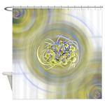 Atom Flowers #13 Shower Curtain