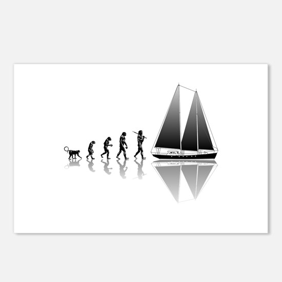 Sailing Evolution Postcards (Package of 8)