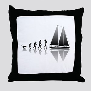 Sailing Evolution Throw Pillow