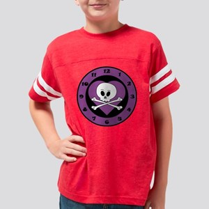 2-Clock Purple Heart Youth Football Shirt