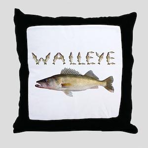 Perfect Walleye 2 Throw Pillow