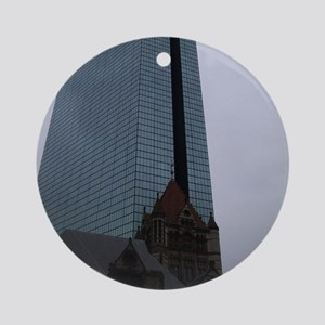 Boston Juxtaposed Round Ornament