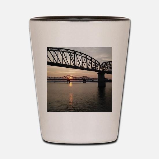Louisville Bridges Shot Glass