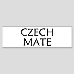 Czech Mate Sticker (Bumper)