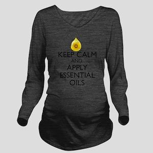 Keep Calm and Apply Long Sleeve Maternity T-Shirt