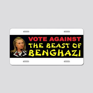 NO HILLARY ZONE Aluminum License Plate
