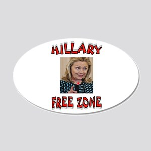 NO HILLARY ZONE Wall Decal
