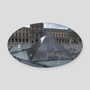 Louvre Oval Car Magnet