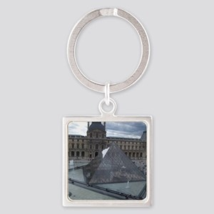 Louvre Square Keychain