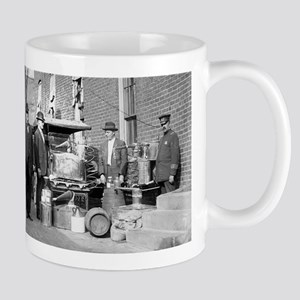 Police With Confiscated Still Mugs