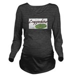 Crappochino Long Sleeve Maternity T-Shirt