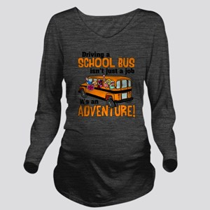 Driving a School Bus Long Sleeve Maternity T-Shirt