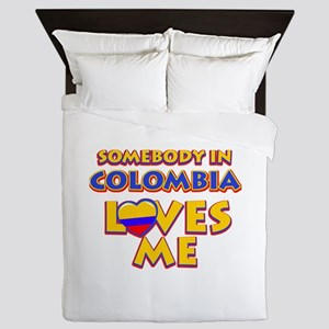 Somebody in colombia Loves me Queen Duvet