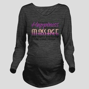 Happiness Massage Long Sleeve Maternity T-Shirt