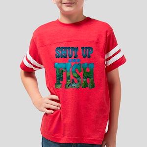 shutpfish_blue_DARK Youth Football Shirt