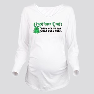 frogs23 Long Sleeve Maternity T-Shirt