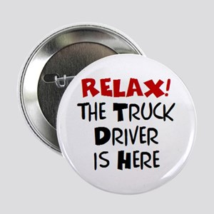 """truck driver here 2.25"""" Button"""
