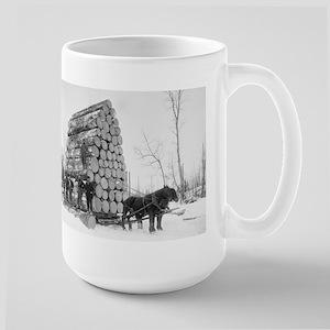 Loggers At Work Mugs