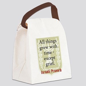 All Things Grow - Israeli Proverb Canvas Lunch Bag