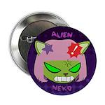 "Angry Alien Neko 2.25"" Button (10 pack)"