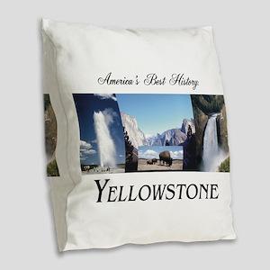 Yellowstone Americasbesthistor Burlap Throw Pillow