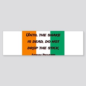 Until The Snake Is Dead - Ivorian Proverb Sticker