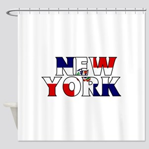 New York - Dominican Republic Shower Curtain