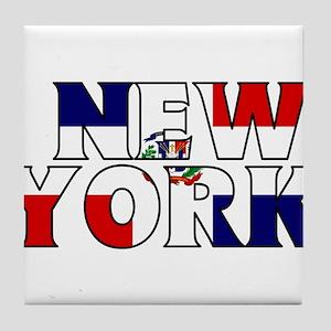 New York - Dominican Republic Tile Coaster