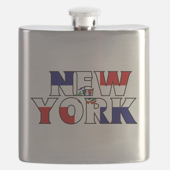 New York - Dominican Republic Flask