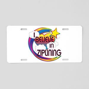 I Believe In Ziplining Cute Believer Design Alumin