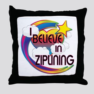 I Believe In Ziplining Cute Believer Design Throw