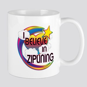 I Believe In Ziplining Cute Believer Design Mug