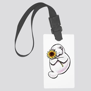 Sunny Manatee Large Luggage Tag