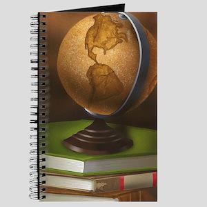 Globe with books Journal