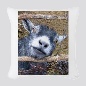 Give Us A Kiss! Woven Throw Pillow