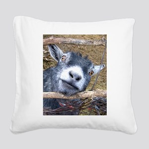 Give Us A Kiss! Square Canvas Pillow