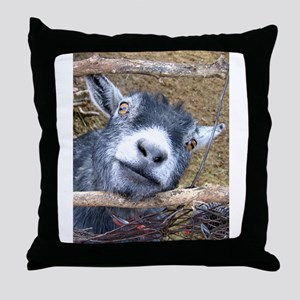Give Us A Kiss! Throw Pillow