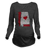 Alabama football Dark Long Sleeve Maternity T-Shirt