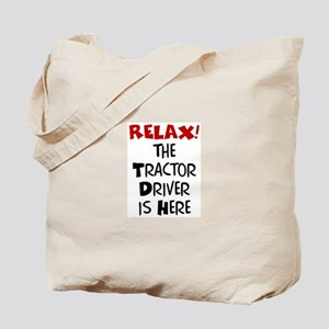 tractor driver here Tote Bag